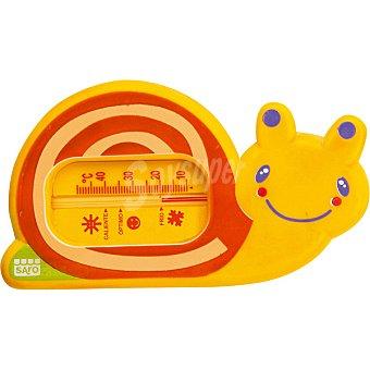 SARO 0910 Termómetro de baño Snorkels con forma de caracol en color naranja 1 unidad