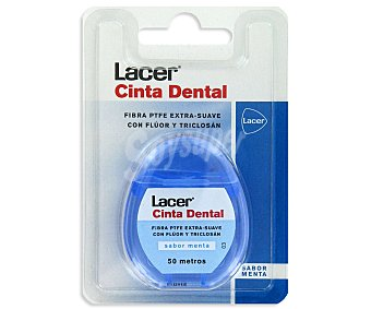 Lacer Cinta dental de menta Pack 50
