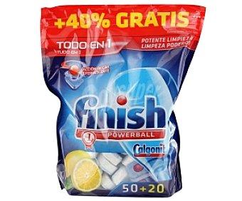 FINISH Todo en 1 Lavavajillas Concentrado Limón 50 + 20 Unidades