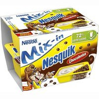 Nestlé Yogur Mix-in Nesquik Pack 2x112 g
