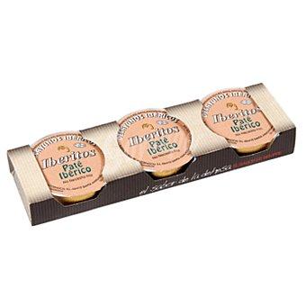 Iberitos Paté ibérico Pack 3 x 25 gr