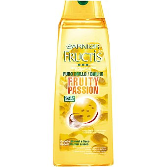 Fructis Garnier Champú fortificante Fruity Passion con Aceite + Fruta de la Pasión frasco 300 ml cabello normal a seco Frasco 300 ml