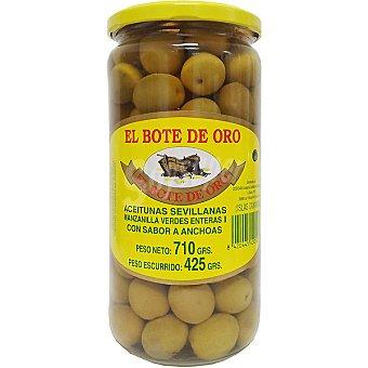 El Bote de Oro Aceitunas verdes con sabor a anchoa Frasco 425 g neto escurrido