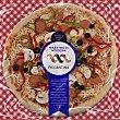 Piccantina Premium familiar pizza de pepperoni pimientos y aceitunas modena Envase 570 g Maestro
