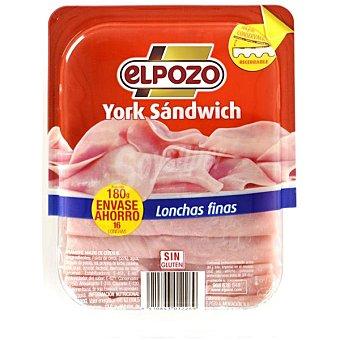 ELPOZO york sándwich en lonchas finas  envase 180 g