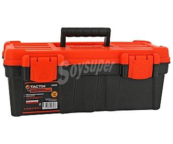 Tactix Caja de Herramientas de Plástico de 33 Centímetros, Color Naranja y Negro 1 Unidad