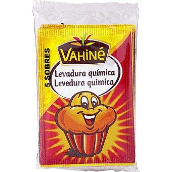 Vahine Levadura química en polvo  5 sobres, paquete 55 g