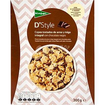 Aliada Cereales de desayuno en copos de arroz y trigo con chocolate Paquete 300 g