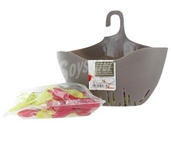 Auchan Cestillo para pinzas gris + 20 pinzas 1 Unidad