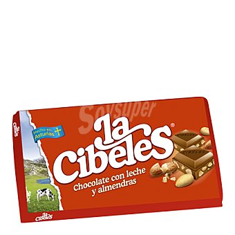 Cibeles Chocolate con almendras Tableta 125 g