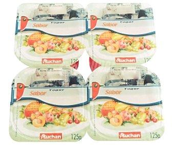 AUCHAN Yogur Desnatado Fresa 4x125g