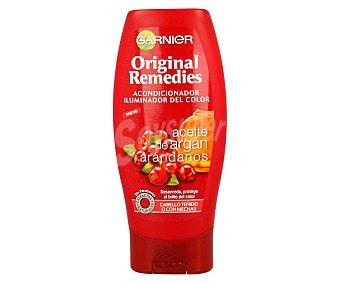 Original Remedies Garnier Acondicionador iluminador del color con aceite de argan y arandanos para cabello teñido o con mechas Frasco 200 ml