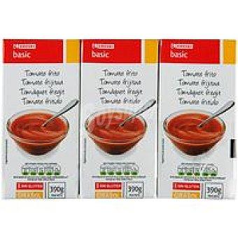 Eroski Basic Tomate frito Pack 3x390 g