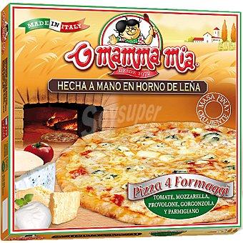 O MAMMA MIA Pizza 4 formaggi tomate mozzarella provolone gorgonzola y parmesano Estuche 415 g