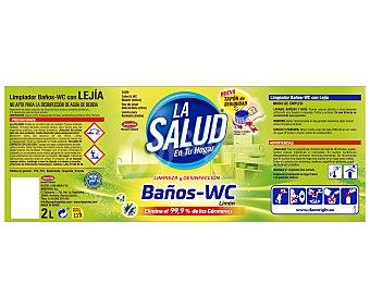 La Salud Lejía baños WC limón 2 l