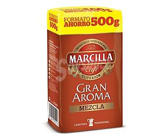 Marcilla Café molido de tueste natural (50%) y torrefacto (50%) 500 gramos