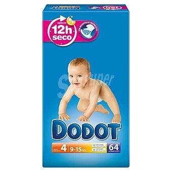 DODOT Pañales 9-15kg Talla 4 paquete 62 unidades