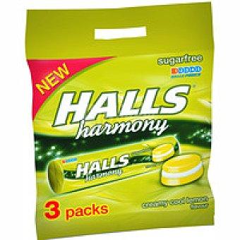 Halls Harmony limón Pack 3x28 g