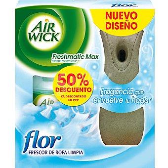 AIR WICK FRESH MATIC Max Ambientador automático frescor de ropa limpia flor aparato + recambio