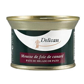 Delicass Mousse de higado de pato lata 130 gr Lata 130 gr