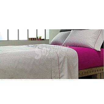 CASACTUAL Celosia Rombo Juego de cama estampado en color granate para cama 105 cm