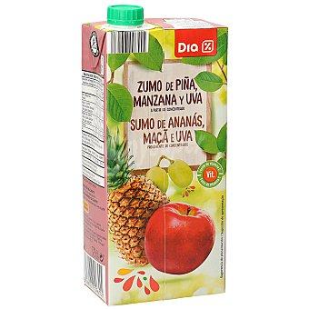 DIA Zumo piña manzana uva Envase 1 lt