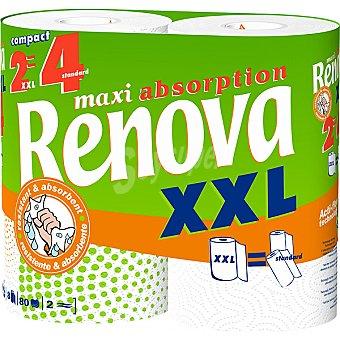 Renova Rollos de cocina maxi absorción XXL doble rollo paquete 2 rollos Paquete 2 rollos