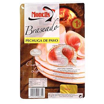 Monells Pechuga de pavo braseada lonchas finas Sobre 110 g