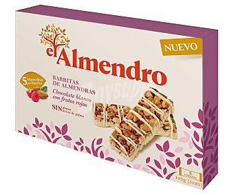El Almendro Barritas de almendras, chocolate blanco y frutos rojos 125 g
