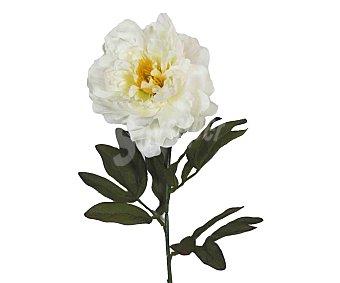 Essencial Vara de peonia abierta artificial color crema, de 65 cm, para decoración del hogar, essencial