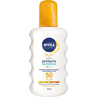 Nivea Sun Leche solar FP-50 resistente al agua Protect & Sensitive Spray de 200 ml
