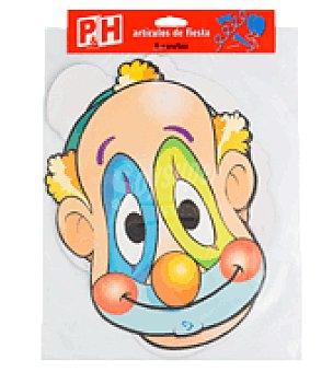 P & H Caretas de cartón 6 unidades