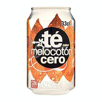 Hacendado Refresco te melocoton cero Lata 330 ml