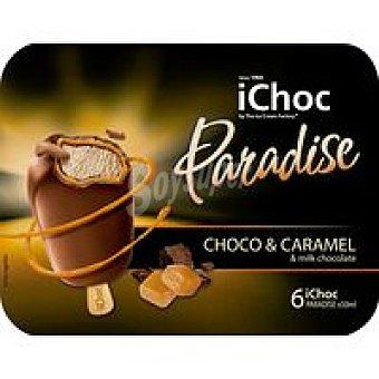 ICHOC Minibombon paradise doble caramelo 6x50ml