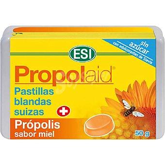 ESI Propolaid pastillas blandas suizas con própolis sabor miel sin azúcar caja 50 g caja 50 g