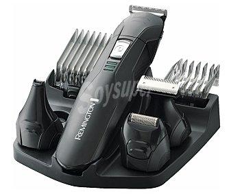 REMINGTON PG6030 Edge Set de arreglo de cara 6 en 1 remington PG6030, alimentación sin cable, cuchillas de titanio, 2 peines y 4 cabezales de corte, autonomía de hasta 40 minutos