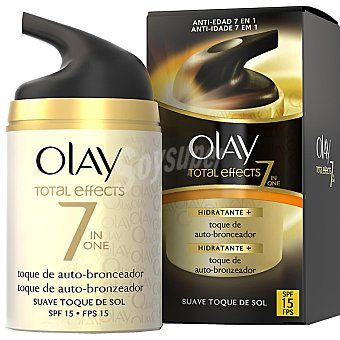 Olay Total Effects 7 en 1 crema hidratante de día + toque de auto-bronceador SPF-15 frasco 50 ml suave toque de sol Frasco 50 ml