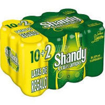 Shandy Cruzcampo Cerveza Pack 10+2x33 cl