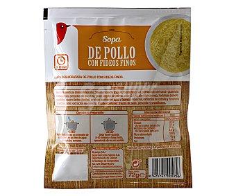 Auchan Sopa de pollo con fideos finos Sobre de 72 gramos