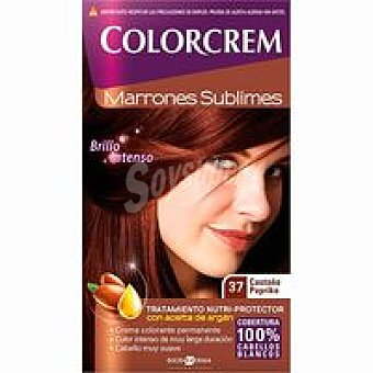 Colorcrem Tinte castaño paprika N.37 Caja 1 unid
