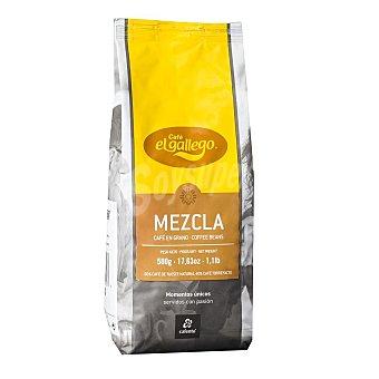 El Gallego Café en grano mezcla 60/40 Paquete 500 g