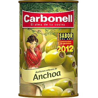 Carbonell Aceitunas rellenas de anchoa Lata 150 g neto escurrido
