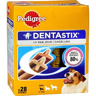 Pedigree Dentastix Snacks dental para perros de tallas pequeñas junior 28 unidades de 440 gramos