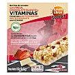 Barritas de cereales con fresa, chocolate blanco y vitaminas Grain 150 g Sunny Delight