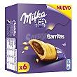 Barritas de galleta rellenas de chocolate Estuche 6 u (156 g) Milka