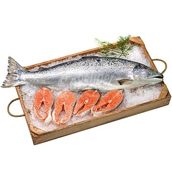 Salmón noruego gordo al corte Al peso 1 kg