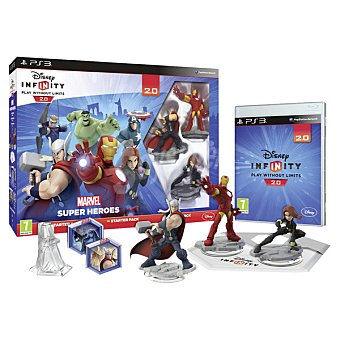 PS3 Videojuego Starter Pack Disney Infinity 2.0 Marvel Super Héroes para PS3 Pack 2