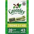 Snacks dentales para perros entre 2-7 kg Envase 43 unidades Greenies