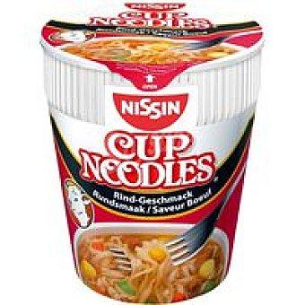 Nissin Cup noodles de ternera Vaso 64 g