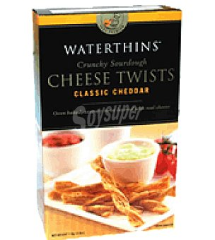 Waterthins Galletas saladas cheese twists cheddar 110 g